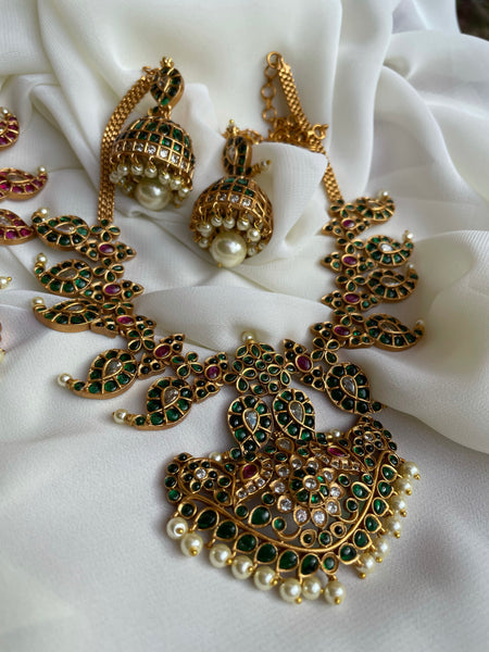 Kemp manga necklace with jhumkas