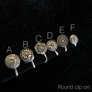 Round clip on -assorted