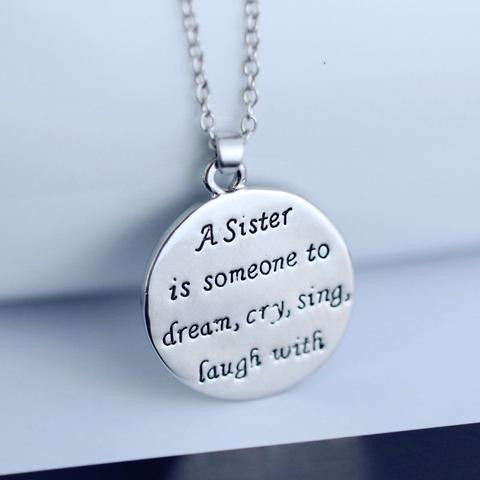 Sister friend engraved pendant necklace tempshopping sister friend engraved pendant necklace tempshopping aloadofball Image collections