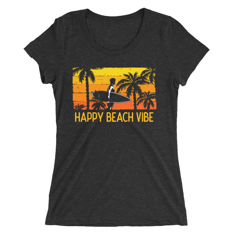 Women's Surf Ready Tee - Happy Beach Vibe