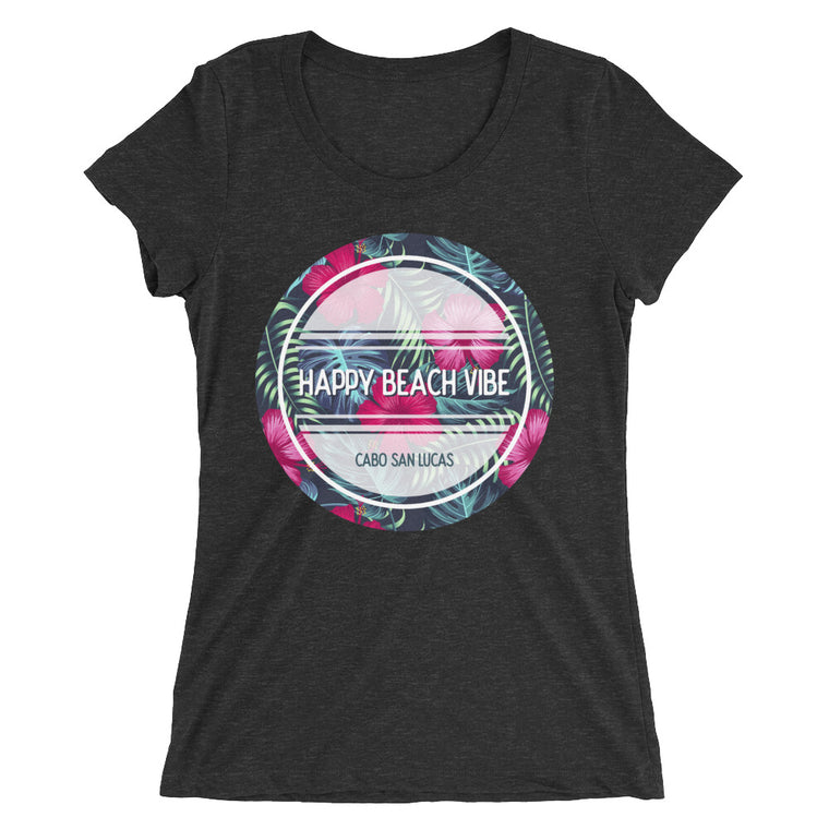 Women's Cabo Tee - Happy Beach Vibe
