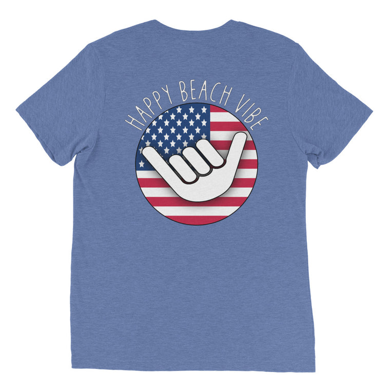 Men's USA Shaka Tee - Happy Beach Vibe