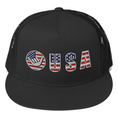 USA Trucker Hat - Happy Beach Vibe