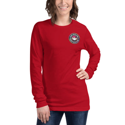 Women's Long Sleeve Shaka Tee - Happy Beach Vibe