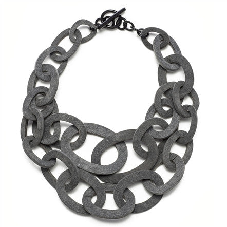 Grey Link Necklace