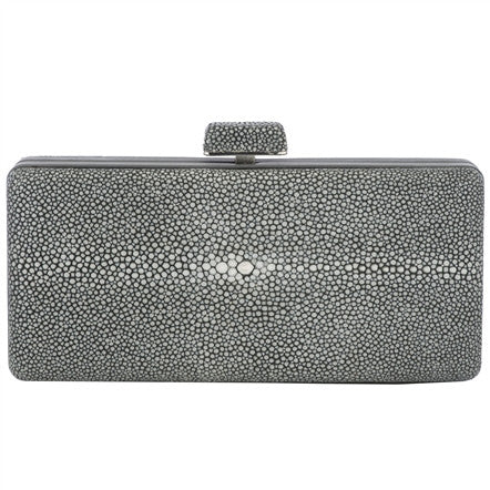 Shagreen Clutch with Top Closure