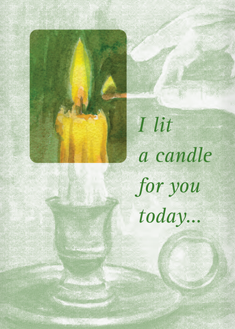 All Occasion Candle Card <br> Suggested Donation $5