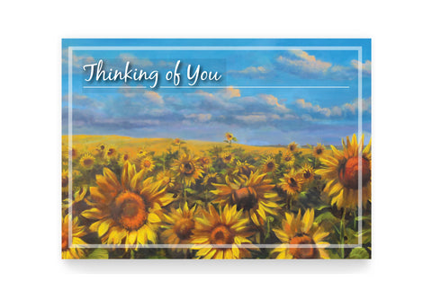 Sunflower Card: Thinking of You <br> Suggested Donation $15