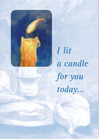 In Difficult Times Candle Card <br> Suggested Donation $5
