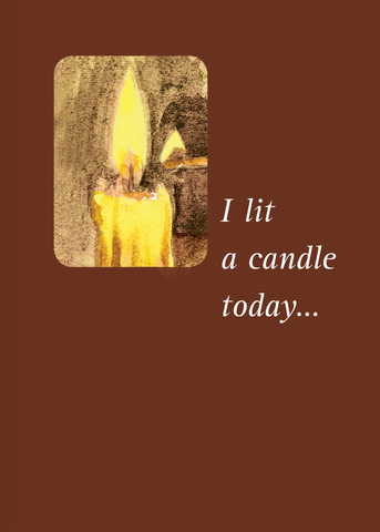 Memorial Candle Card <br> Suggested Donation $5