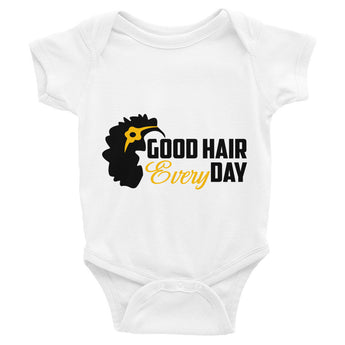 Infant short sleeve good hair tee