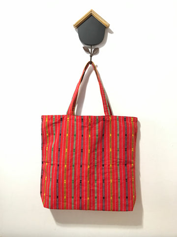 SHOPPER TOTE BAG - Red