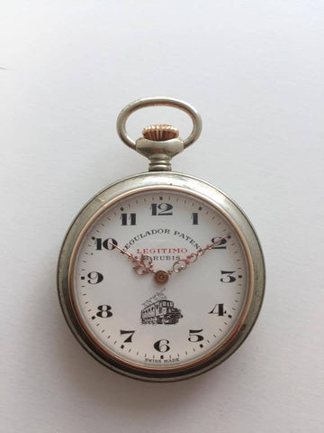 Vintage Legitimo Regulador Patent Pocket Watch