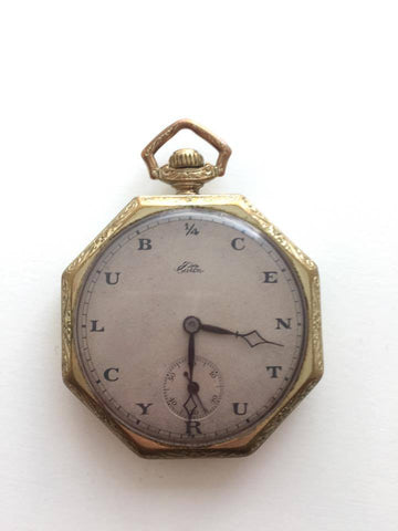 Vintage Eaton Quarter Century Club Pocket Watch
