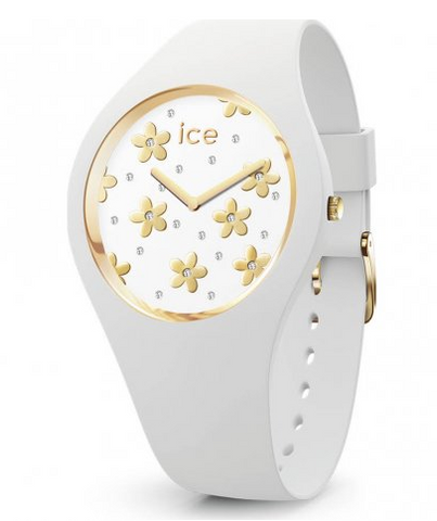 ICE FLOWER with swarovski crystals - 34MM