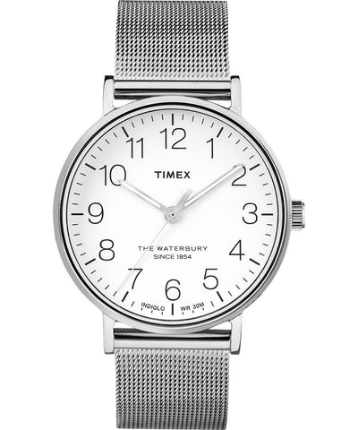 TW2R71500 - Waterbury Classic 40mm Stainless Steel Mesh Band Watch