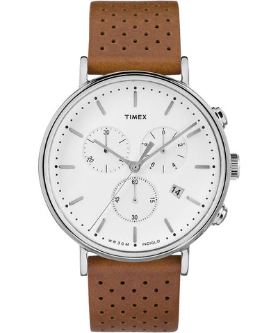 TW2R26700 - Fairfield Chronograph 41mm Leather Strap Watch