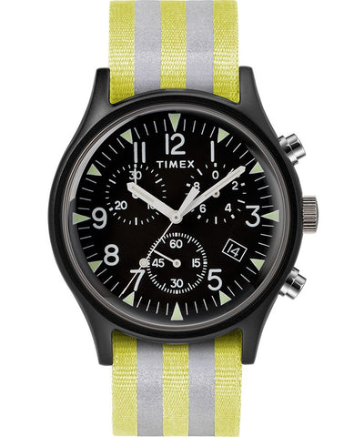 MK1 Aluminum Chronograph 40mm Reflective Fabric Watch