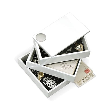 Spindle Storage Box- White