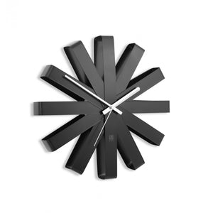 Ribbon Wall Clock- Black
