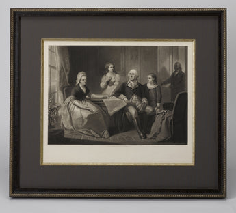 1865 George Washington and His Family Engraving