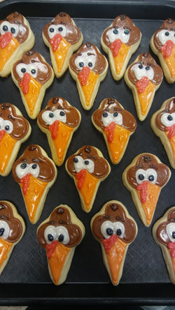 Turkey Head sugar cookies