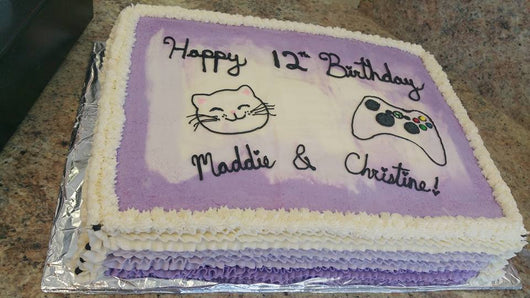 Personalized sheet cake
