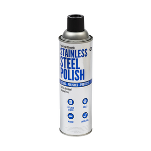 A can of Industrial Strength Stainless Steel Polish