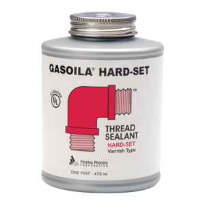 A one pint can of Gasoila Hard-Set Varnish Type Thread Sealant