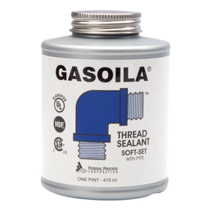 A one pint can of Gasoila Soft-Set Thread Sealant with PTFE