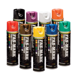Grouping of 9 FAS-MARK™ Cap & Cover Marking Paint cans