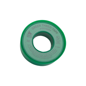A roll of Thred Tape - Green for Oxygen