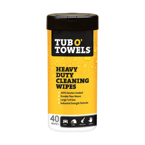 Tub O' Towels Heavy Duty Cleaning Wipes 40-count container