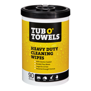 90-Count Tub O' Towels Heavy Duty Cleaning Wipes container