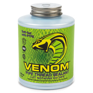 One Venom™ Pipe Thread Sealant, Soft-Set with PTFE, Let Nothing Escape