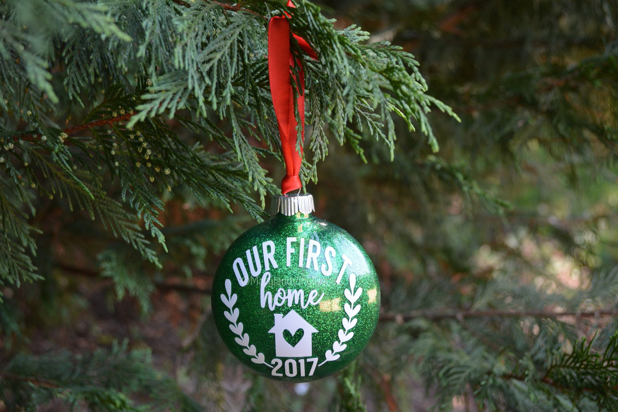 Our First Home Christmas Ornament.Our First Home Christmas Ornament