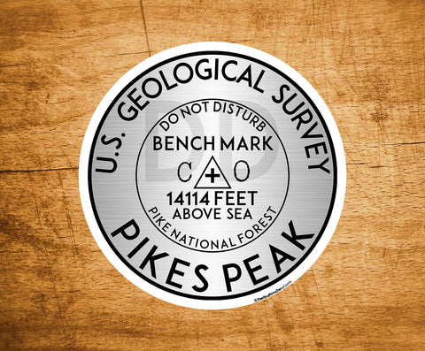 "Yellowstone National Park Sticker 3/"" Mount Washington USGS Benchmark Sticker"