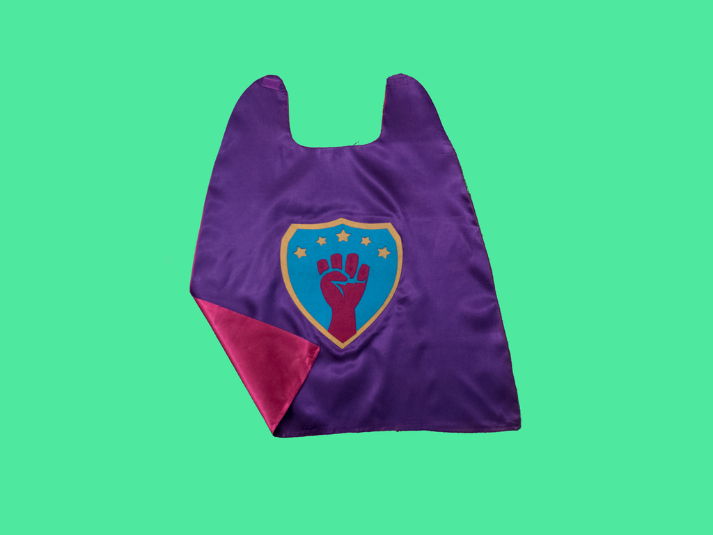 Super Woke Cape in Purple/Pink