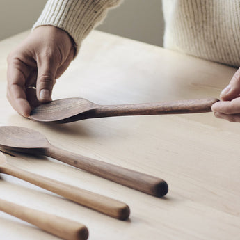 goose creek mercantile, goose creek, white kitchen, open shelves, wooden shelves, kitchen remodel, natural, natural living, rustic modern, holly johnston, wabi sabi, wooden spoon, chef spoon, hand carved spoon, handmade, bespoke, made in seattle, pnw made, walnut, oak, cherry, rolling pin, pin, risotto spoon, paddle spoons, scoops, quinoa paddle, serving spoons, salad tongs, spatula, serving spoon, stir spoon, Jackalope Design Co