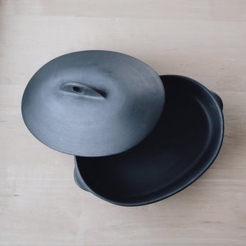 Portuguese Barro Negro Ceramics, Goose Creek Mercantile, Seattle home decor, interior design, kitchenware, shop, boutique, natural modern, dutch oven, lidded roaster, Remodelista