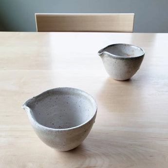 Spouted Vessel, Shino Glaze