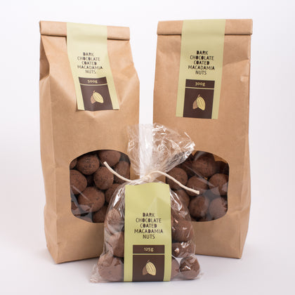 Chocolate Coated Macadamia Nuts - Dark