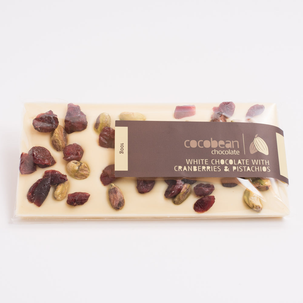 White Chocolate Pistachio & Cranberry Bar