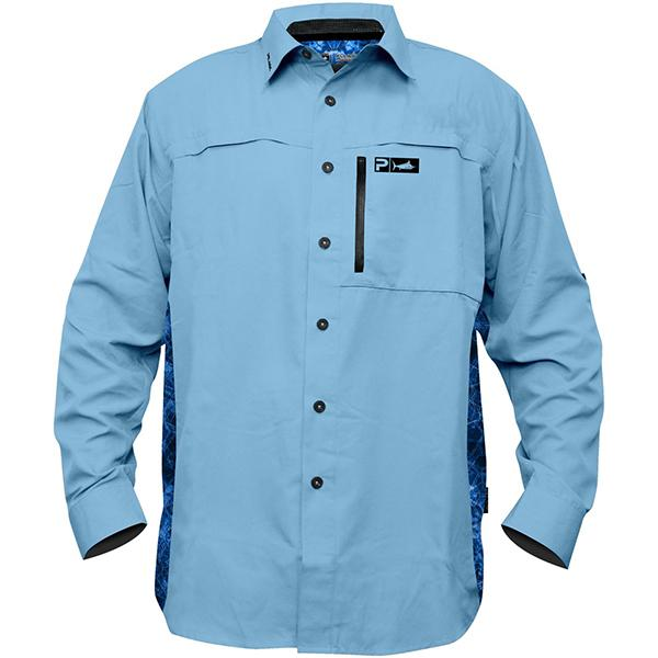 Pelagic Eclipse Pro Series Light Blue Guide Long Sleeve Shirt