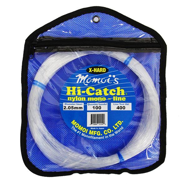 Momoi Hi-Catch X-TRA Hard Leader 400 Pounds 100 Yards - Clear White - Bulluna.com