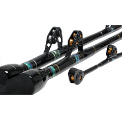 Black Bart Blue Water Pro 30 Pound Stand Up 2 Piece 6 Feet Trolling Rod with Express Roller Guides - Bulluna.com