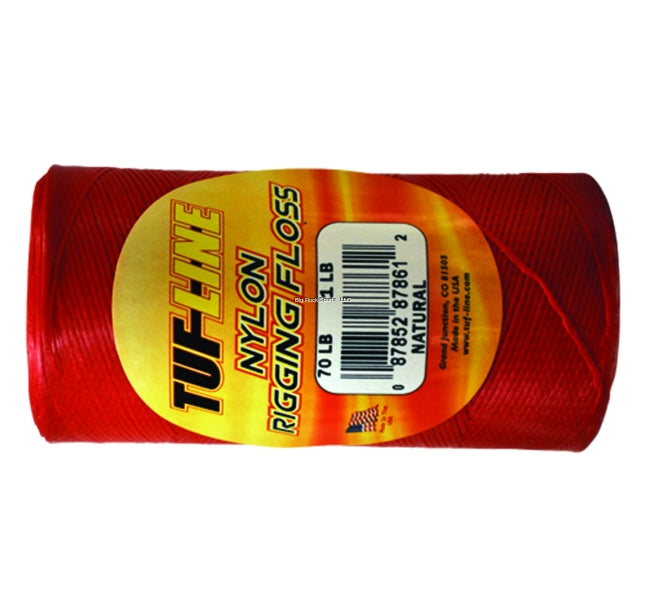 Tuf-Line Nylon Rigging Floss Red Color 30Lb 1/4 Pound Roll 640 Yards - Bulluna.com