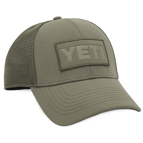 Yeti Mid Pro Patch Trucker Hat - Olive on Olive