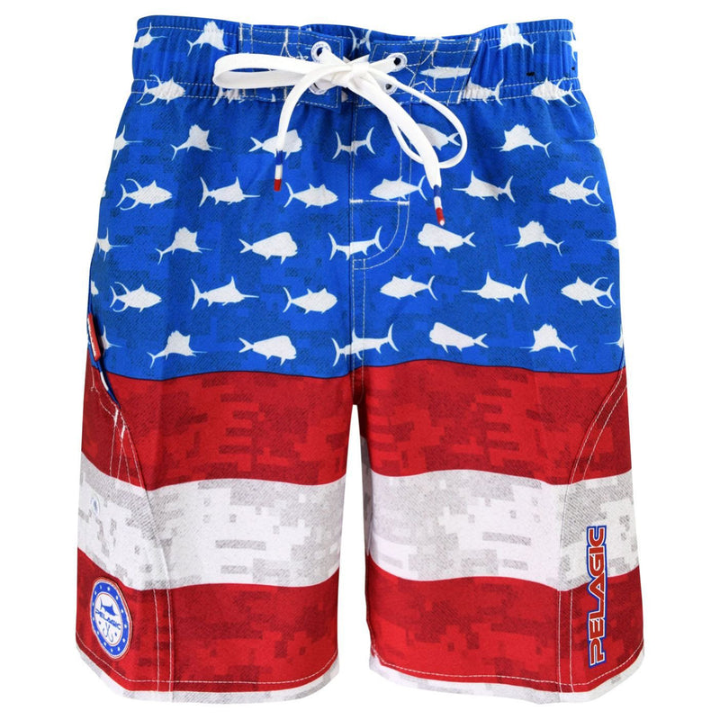 Pelagic Sharkskin Americamo Boardshort Kids