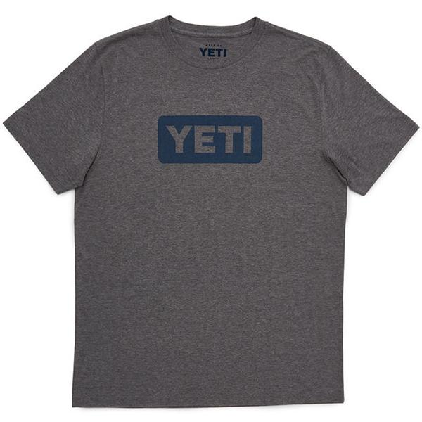 Yeti Logo Badge Grey Short Sleeve Tee Shirt